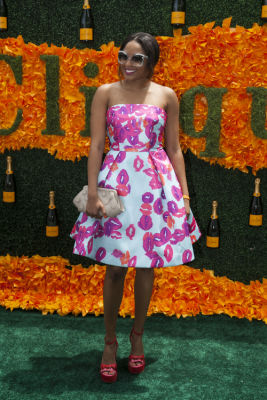 alicia quarles in Veuve Clicquot Polo Classic 2016