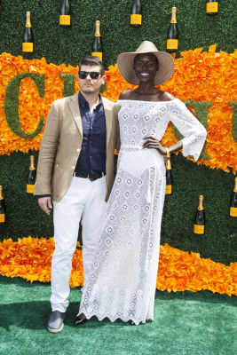 avak deng in Veuve Clicquot Polo Classic 2016