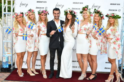 fancy models in Swedish Midsommar in the Hamptons