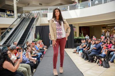 natalia prescott in Inside The Back To School Fashion Show At The Shops at Montebello