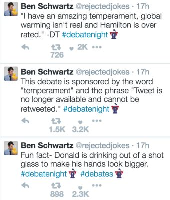 ben schwartz in The Funniest Celebrity Reactions To Last Night's Presidential Debate