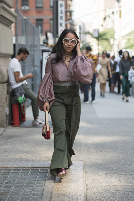 sarah brody in Fashion Week Street Style: Day 1