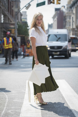 kate foley in Fashion Week Street Style: Day 1
