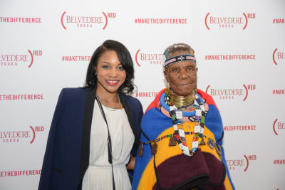 jasmin allen in Belvedere Celebrates (RED) and Partnership with South African Artist, Esther Mahlangu at Ace Gallery in Los Angeles [Cocktail Reception]