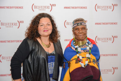 esther mahlangu in Belvedere Celebrates (RED) and Partnership with South African Artist, Esther Mahlangu at Ace Gallery in Los Angeles [Cocktail Reception]
