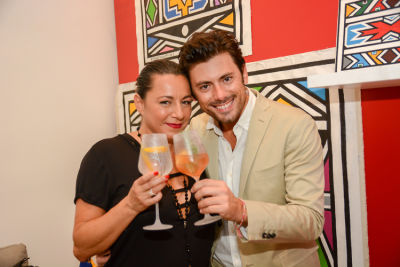 mario panzarino in Belvedere Celebrates (RED) and Partnership with South African Artist, Esther Mahlangu at Ace Gallery in Los Angeles [Cocktail Reception]