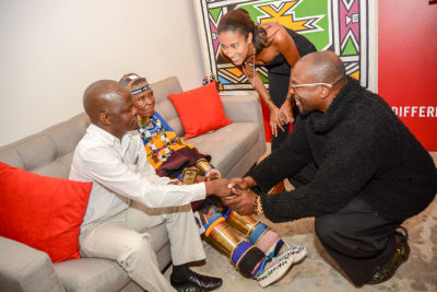 issac mokwana in Belvedere Celebrates (RED) and Partnership with South African Artist, Esther Mahlangu at Ace Gallery in Los Angeles [Cocktail Reception]