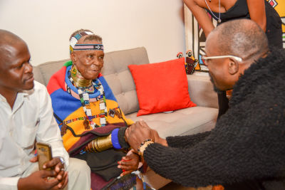 chaz guest in Belvedere Celebrates (RED) & South African Artist Esther Mahlangu