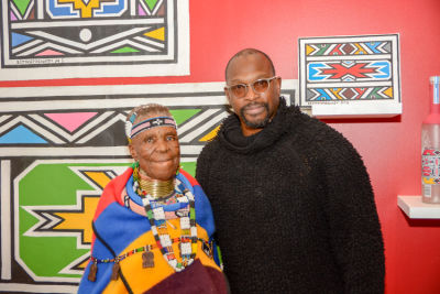 chaz guest in Belvedere Celebrates (RED) and Partnership with South African Artist, Esther Mahlangu at Ace Gallery in Los Angeles [Cocktail Reception]