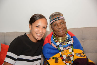 ashaya robinson in Belvedere Celebrates (RED) and Partnership with South African Artist, Esther Mahlangu at Ace Gallery in Los Angeles [Cocktail Reception]