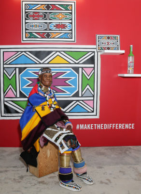 Belvedere Celebrates (RED) and Partnership with South African Artist, Esther Mahlangu at Ace Gallery in Los Angeles [Art Class]