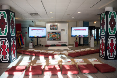 Belvedere Celebrates (RED) and Partnership with South African Artist, Esther Mahlangu at the Dusable Museum in Chicago