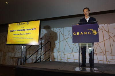 The GEANCO Foundation honors actor Benedict Cumberbatch for his humanitarian efforts
