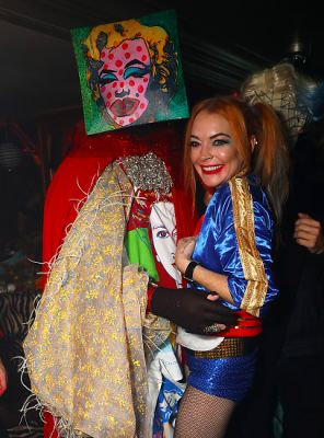 lindsay lohan in Lindsay Lohan Basically Dressed As Herself For Halloween