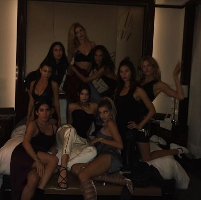 hailey baldwin in 15 Times Kendall Jenner Partied Without Her ID