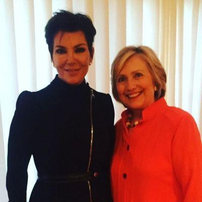 Kris Jenner, Hillary Clinton