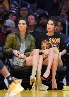 bella hadid in Why Must Kendall Jenner Insist On Wearing Heels To Basketball Games?