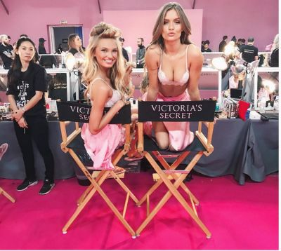 josephine skriver in Your Backstage Look At The 2016 Victoria's Secret Fashion Show In Paris