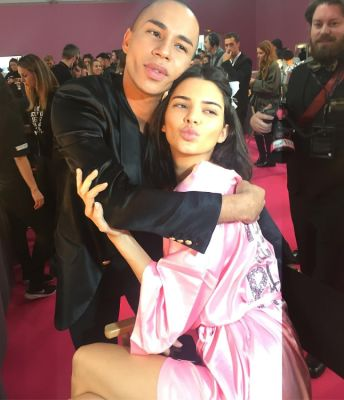 olivier rousteing in Your Backstage Look At The 2016 Victoria's Secret Fashion Show In Paris