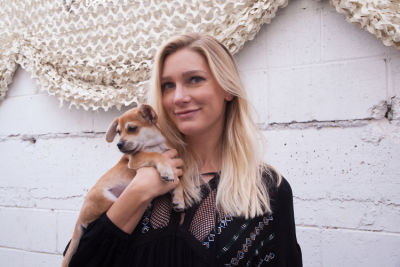 mackenzie mason in Mowgli Rescue & Rahicali's Furry Friendsgiving at The Butcher's Daughter