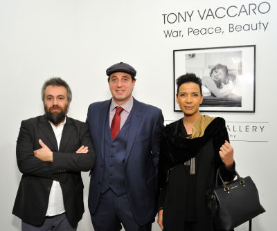 sunhe hong-alessandro-berni in Tony Vaccaro: War Peace Beauty exhibition opening