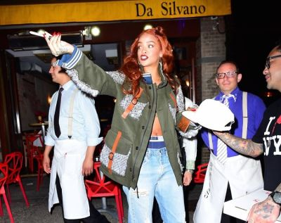 13 Fabulous Photos Of Rihanna Leaving Da Silvano