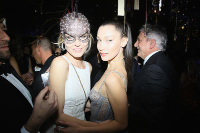 eva herzigova in Kendall Jenner & Bella Hadid Party At Dior's Extravagant Masked Ball