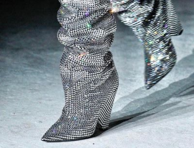 The Saint Laurent Glitter Boots EVERYONE Is Talking About