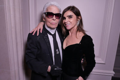 Karl Lagerfeld & Carine Roitfeld Fête During Paris Fashion Week