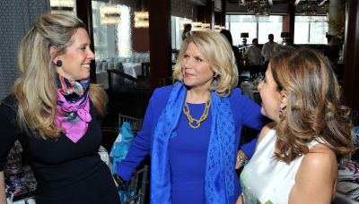 francine lefrak in Ohana & Co Success for Progress luncheon 2017 with Kara Ross and Susan Rockefeller