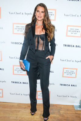 brooke shields in Brooke Shields Continues To Be Hottest Woman Ever At Last Night's Tribeca Ball