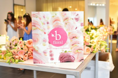 B Floral Summer Press Event at Saks Fifth Avenue's The Wellery