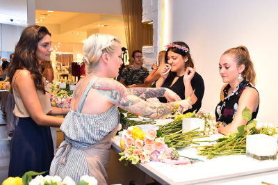 claudia kiss in B Floral Summer Press Event at Saks Fifth Avenue's The Wellery