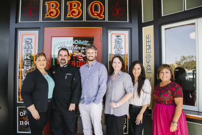 brad hofman in Lucille's Smokehouse BBQ Pre-opening Celebration at The Shops at Montebello