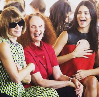 Anna Wintour, Grace Coddington, Kendall Jenner