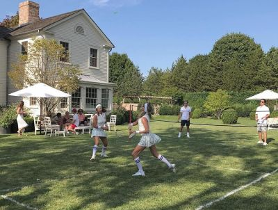 Lauren Santo Domingo's All-White Hamptons Badminton Soirée