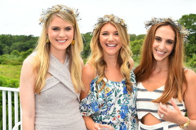 katie sands in Crowns by Christy x Nine West Hamptons Luncheon