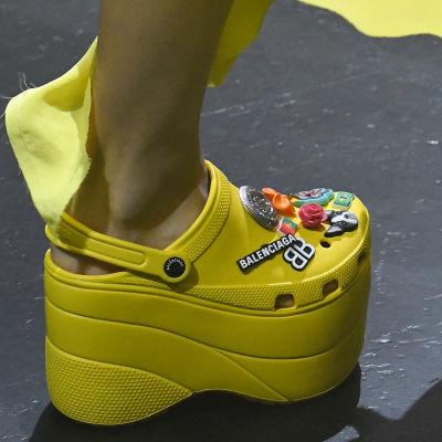 Balenciaga Debuts Platform Crocs In Paris