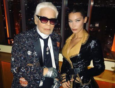 Mariah Carey & Bella Hadid Help Honor Karl Lagerfeld At Intimate V Magazine Dinner