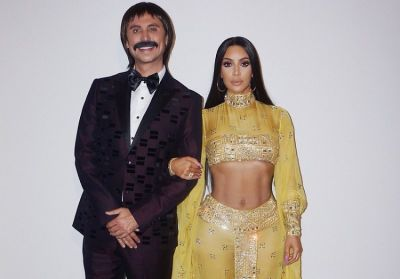 kim kardashian in The Best Celebrity Costumes From Halloweekend 2017