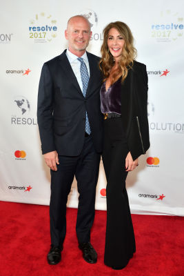 kelly green in The Resolution Project's 2017 Resolve Gala