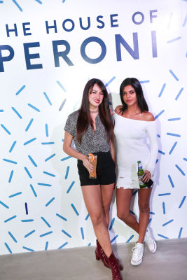 anna flora in House of Peroni LA Opening Night