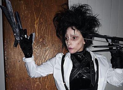 Lady Gaga's Edward Scissorhands Costume Won Halloween