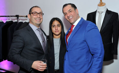 james famularo in Baynes + Baker King Leo menswear collection launch with Nate Burleson