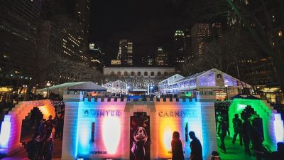 A Giant, Lego-Like Ice Castle Is Heading To Bryant Park