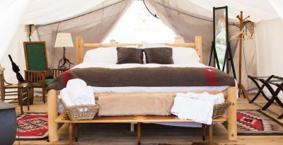 You Can Now Go Glamping on Governors Island!