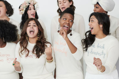 The Resistance Revival Chorus Helps Launch A New Collection Of Feminist AF Sweaters