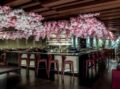 Sip Sakura Cocktails At This NYC Restaurant Covered In Cherry Blossoms