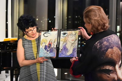 cyndie bellen-berthézène in Changing the World through Art:  A Cocktail and Concert with Metropolitan Opera stars, Alice Coote, Joyce DiDonato & Bryan Wagorn
