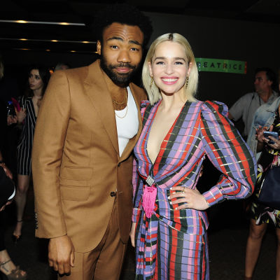 Donald Glover & Emilia Clarke Attend The Star-Studded Premiere Of 'Solo: A Star Wars Story'